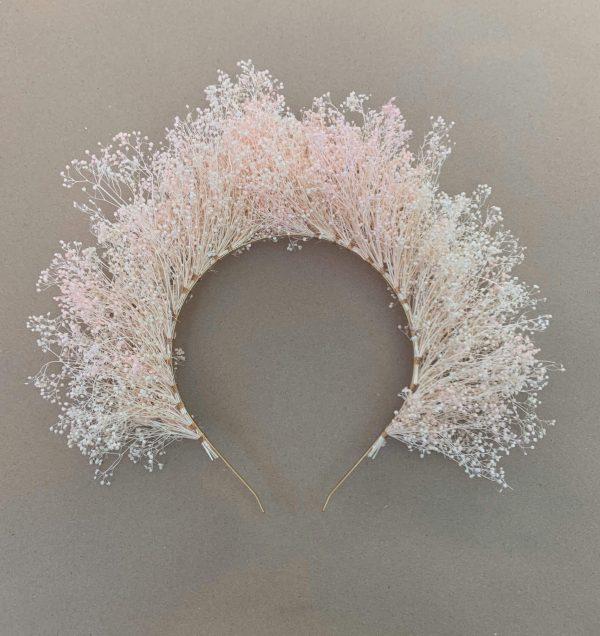 Pink Babysbreath headband