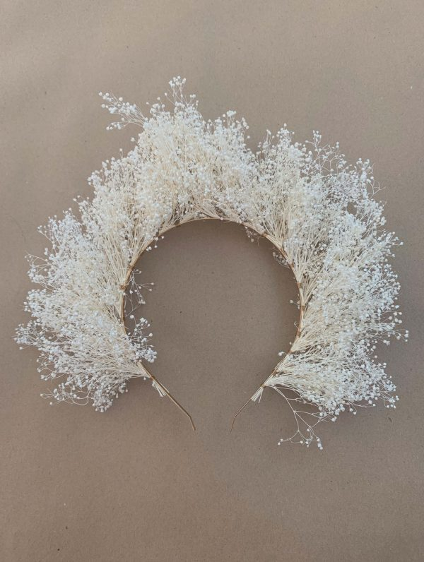 White Babysbreath Headband