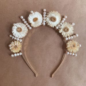 Pearls-Strawflower-Headpiece